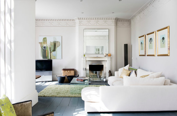 Transitional Living Room by The Flying Pig Renovation Company