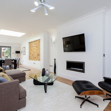 Transitional Family Room by Chris Snook