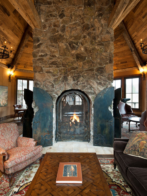 Central fireplace houzz - Incredible central fireplace ideas ...
