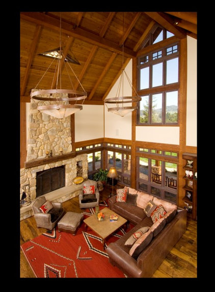 Rustic Living Room by Blackburn Architects, PC