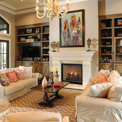 Traditional Living Room by Astria Fireplaces