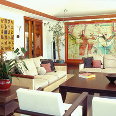 Asian Living Room by Peter Vincent Architects