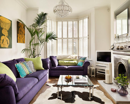 Example Of A Classic Formal Enclosed Living Room Design In London With White Walls Medium