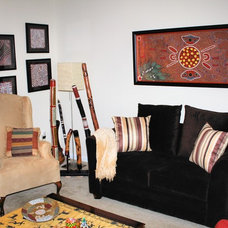 Eclectic Living Room by Sharon Johnson Lott