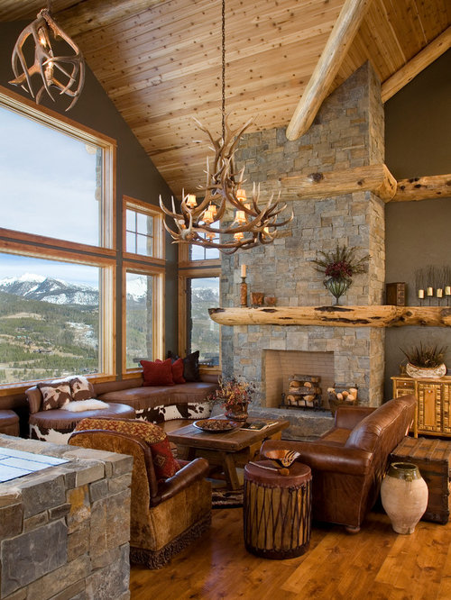Rustic Living Room Design Ideas, Renovations & Photos With