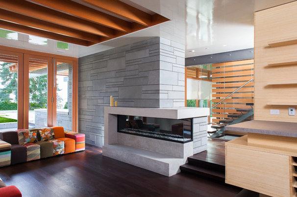 Modern Living Room by Kallweit Graham Architecture