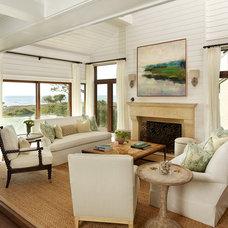 Beach Style Living Room by R.M. Buck Builders