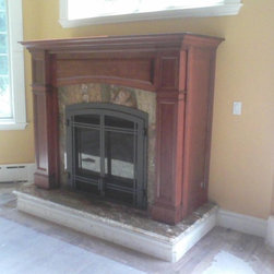 Direct Vent Gas Fireplace in Mantel Cabinet - This is a Regency Bellavista direct vent gas fireplace in a Collinswood mantel cabinet.