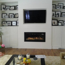 Contemporary Living Room by Jackson Fireplace and Patio, inc