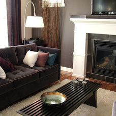 contemporary living room by Rochelle LD Zemlak @ Rochelle Lynne Design