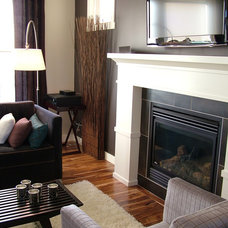 Contemporary Living Room by Rochelle Lynne Design