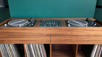 DJ Booth and Vinyl Storage