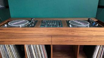 DJ Booth and Vinyl Storage