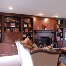 Traditional Living Room by Odhner & Odhner Fine Woodworking Inc.