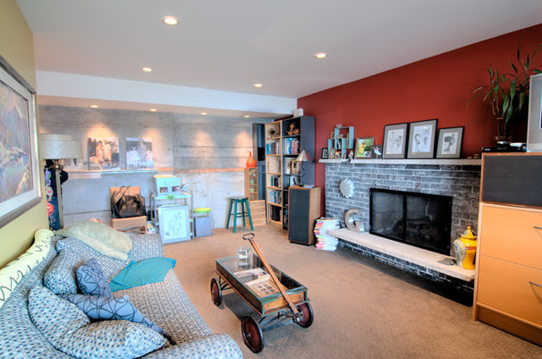 Modern Living Room by Louise Lakier