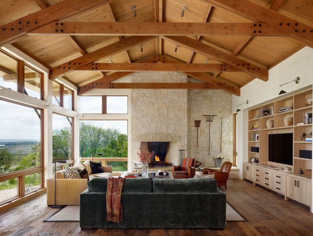 Farmhouse Living Room by Furman + Keil Architects