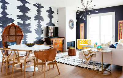 Room of the Day: A Glamorous Space With a Bohemian Touch