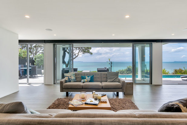 Beach Style Living Room by Urban Curtains + Blinds