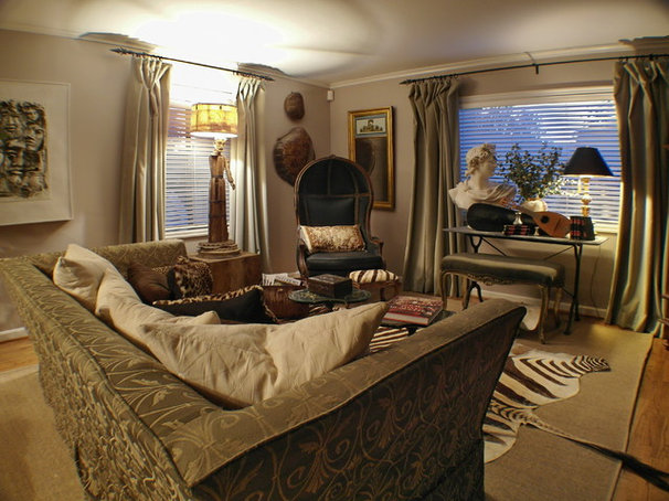 Eclectic Living Room by Donna DuFresne Interior Design