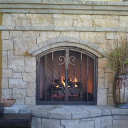 Fireplace accessories find fireplace tools and fireplace for Custom wrought iron fireplace screens