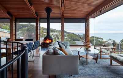 Architecture : Un cabanon de plage agrandi par un cube de verre