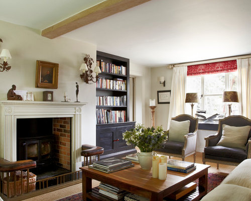 Country Cottage Living Room Ideas. Mid sized country enclosed carpeted living room photo in Wiltshire with a  wall mounted Pictures Of Country Cottage Living Rooms Houzz