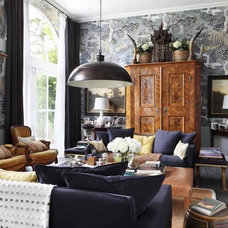Farmhouse Living Room by VSP Interiors