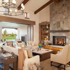 Transitional Living Room by Jeanette Christian Christian Design Associates