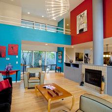 Contemporary Living Room by L.EvansDesignGroup,inc