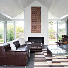 Midcentury Living Room by Klopf Architecture