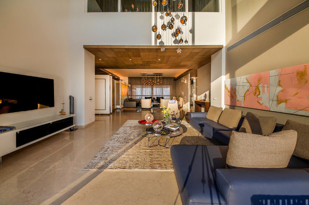 Contemporary Family Room by TAO Architecture Pvt. Ltd.