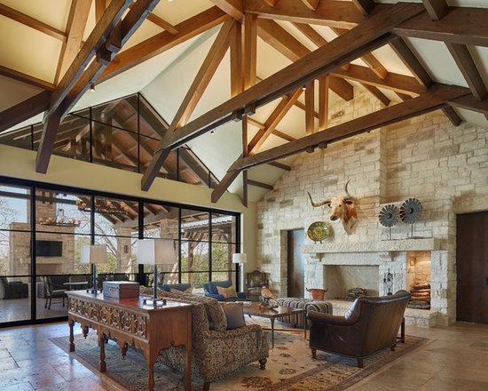 Farmhouse Living Room Design Ideas Remodels  Photos Houzz - Farmhouse living room