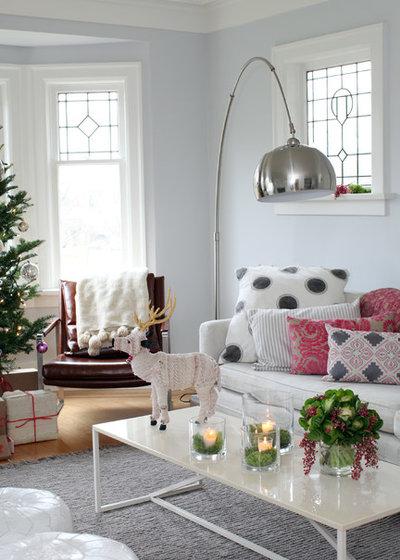 Eclectic Living Room by Sophie Burke Design