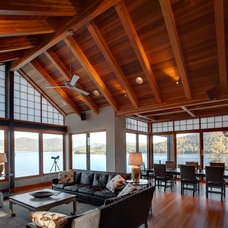 Rustic Living Room by Jon R. Sayler, Architect AIA PS