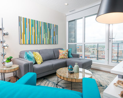 Turquoise Living Room Ideas Photos With Grey Walls