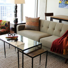 Contemporary Living Room by Kim Armstrong