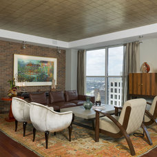 Eclectic Living Room by Cravotta Interiors