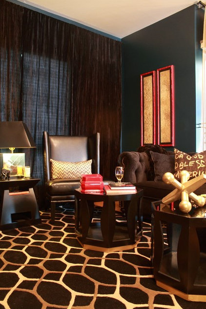 eclectic living room by Natalie Younger Interior Design, Allied ASID