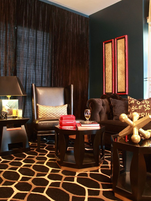 Brown furniture houzz - Red gold and brown living room ...