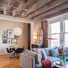 Contemporary Living Room by Kristina Wilson Design