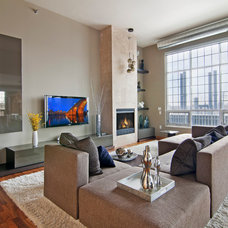 Contemporary Living Room by Belle Design Build