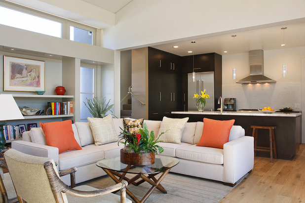 Transitional Living Room by Amy A. Alper, Architect