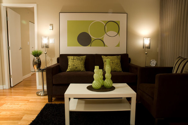 Contemporary Living Room by Heather Kleim