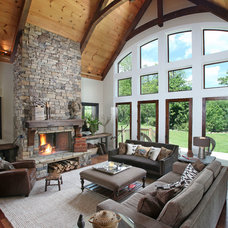 Contemporary Living Room by Modern Rustic Homes