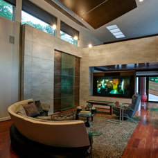 Modern Living Room by Faust Construction