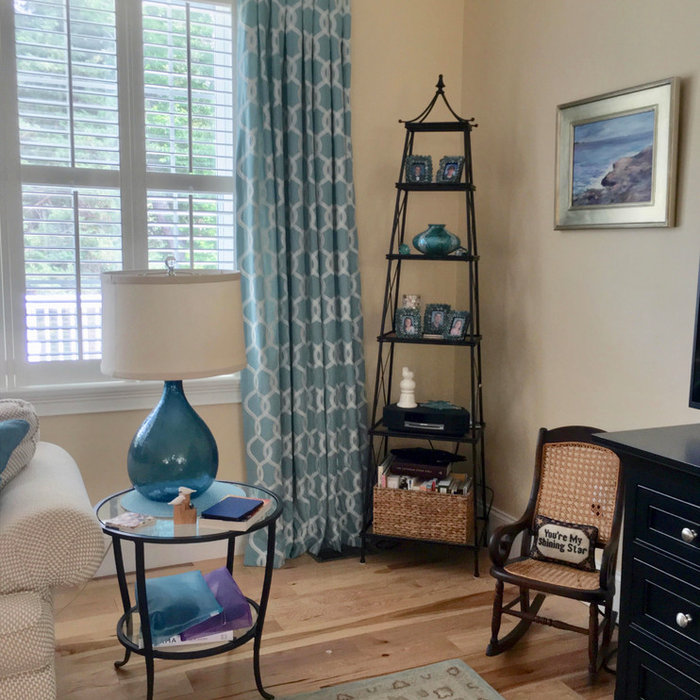 Draperies & Roman Shade Design Add Color & Pattern to Great Room