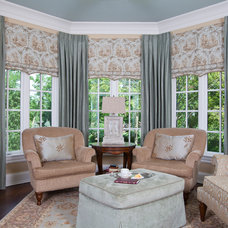 Traditional Living Room by Drapery Connection