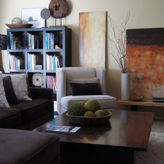 eclectic living room by Pilar Calleja - Draw The Line Design