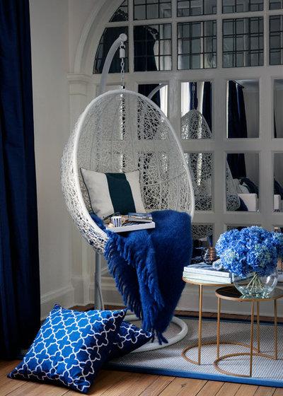 Transitional Living Room by De Villiers Interior Design