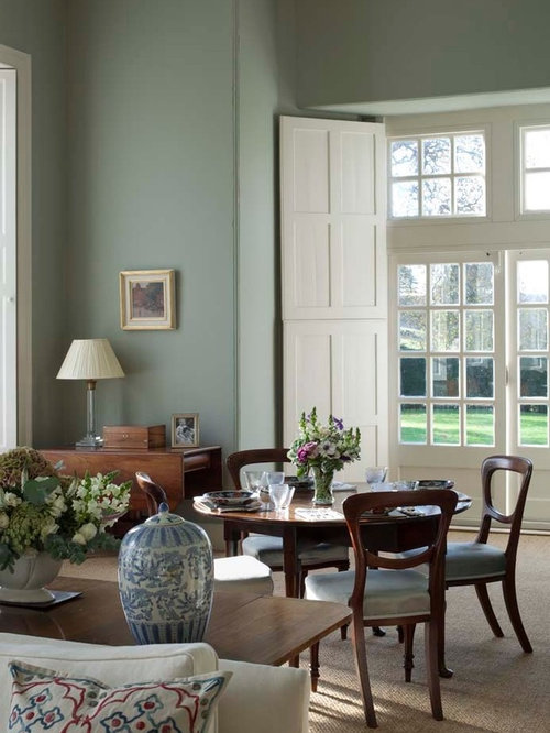 Farrow and ball ball green houzz for Duck egg blue and grey living room ideas